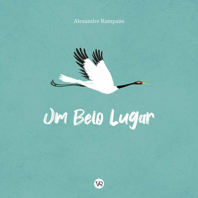 Capa do livro Um Belo Lugar, mostra uma ave branca voando sob fundo esverdeado; essa é uma das dicas de Tino Freitas de livros que abordam o tema da morte