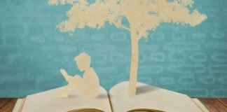 Literatura infantil e juvenil é o foco de congresso internacional; ilustração mostra livro aberta, uma criança sentada sob as páginas lendo e uma árvore ao fundo