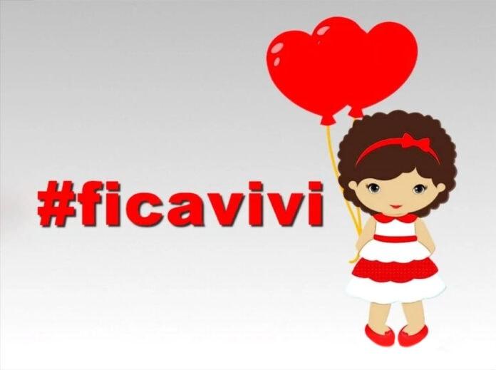 Sobre o caso polêmico de adoção da Vivi em Minas Gerais; ilustração mostra menina de vestido e fita vermelha segurando balões em forma de coração vermelho