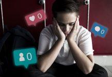 5 razões porque as redes sociais não são brincadeira de criança; garoto apoia bochechas nas mãos e ícones de curtidas aparecem na imagem e número de seguidores com o número zero