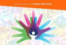Brasil tem 15 milhões de pessoas com doenças raras; ilustração mostra várias mãos coloridas e o símbolo das doenças raras, representado por vária smãos abertas, cada uma de uma cor
