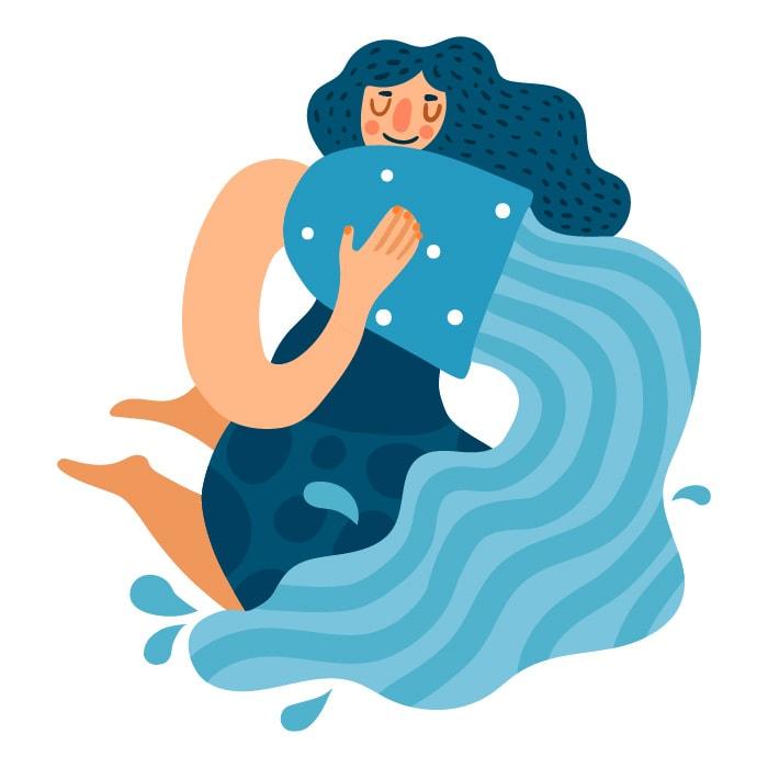 As características da criança de cada signo; ilustraçao remete ao signo de aquário