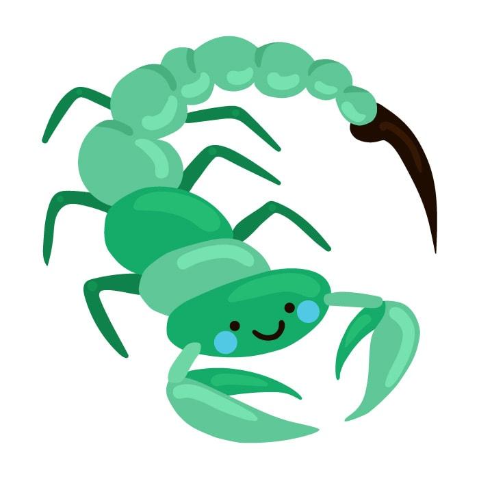 As características da criança de cada signo; ilustração remete ao signo de escorpião