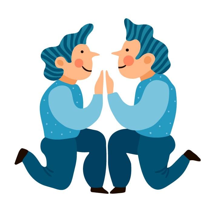 As características da criança de cada signo; ilustração remete ao signo de gêmeos