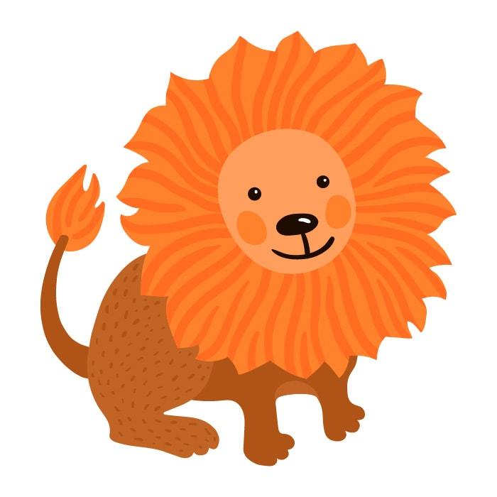 As características da criança de cada signo; ilustração remete ao signo de leão
