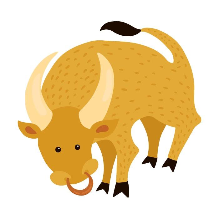 As características da criança de cada signo; ilustração remete ao signo de touro