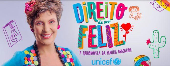 Unicef lança radionovela para mães, pais e famílias; atriz Andrea Soares, que faz a personagem Jussara aparece ao lado do nome da radionovela