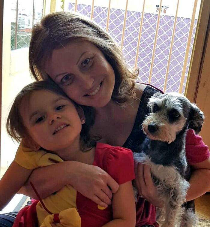 Simone Burse e sua filha