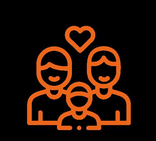 Novos arranjos familiares: como a família evoluiu nas últimas décadas; ilustração mostra pais do mesmo sexo e criança