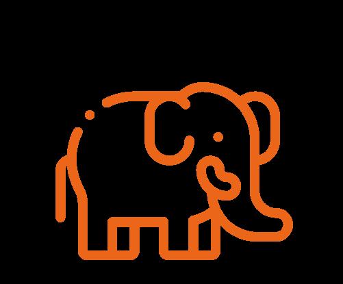 Novos arranjos familiares: como a família evoluiu nas últimas décadas; ilustração de um elefante