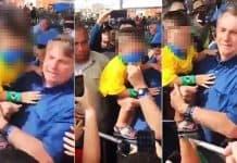 Médicos e educadores reagem com indignação a gesto do presidente de retirar máscara de crianças; reprodução de cenas do presidente no momento em que pega criança no colo e retira a máscara dela