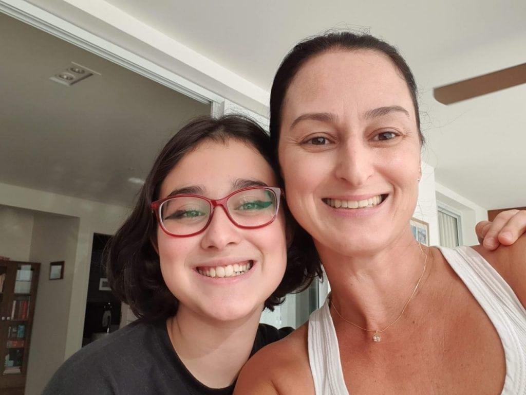 Alessandra Faro e a filha Alice