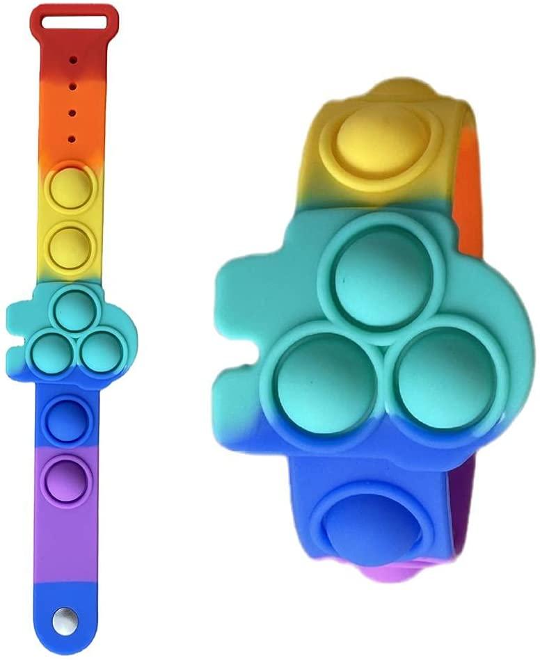 Fidget toy: o brinquedo do momento que estimula o bem-estar; Foto da pulseira de pressão fidget toy