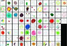 Crianças têm uma percepção relativamente precisa sobre o coronavírus, diz estudo; desenhos representando o coronavírus feitos por crianças