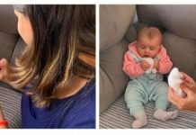 Bebês devem receber estímulos a segurar e alcançar objetos, diz pesquisa; bebê aparece em duas fotos segurando sapatinho e outro objeto